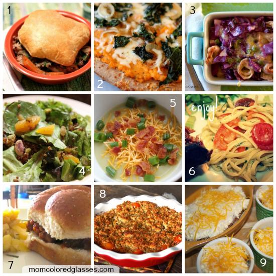 Mom Colored Glasses Dinner Recipe Collage