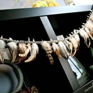 DIY Fall Feather Garland