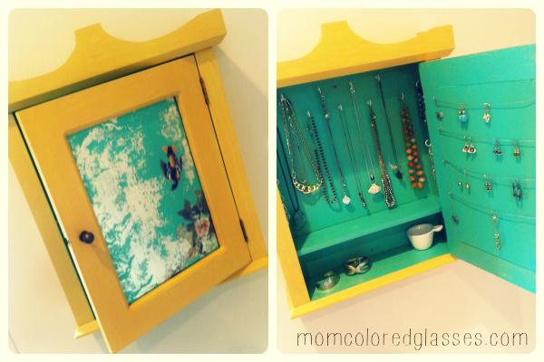 Diy Upcycled Jewelry Cabinet} Jewelry Box Diy